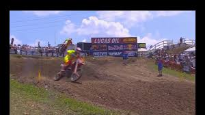 ama motocross on tv ama motocross 250 moto 1 high point 2017 youtube