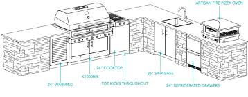 outdoor kitchen floor plans free diy big green egg