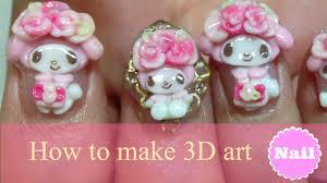 piggieluv creepy 3d ghost face nail art 3d nail artnailnailsart