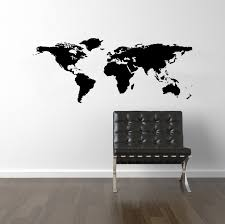 wall decal world map interior designing home ideas good lovely