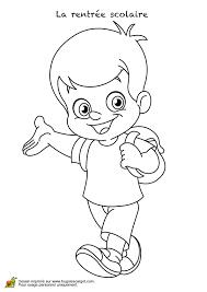 coloriage la rentrée scolaire du petit garçon