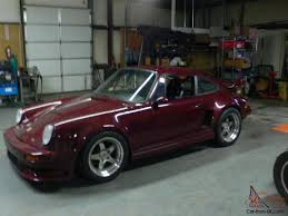 maroon porsche 930 911 turbo street track race project