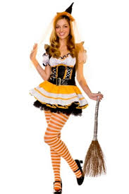 cheap bewitched agaric trim ruffled candy corn costume ideas
