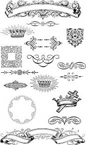 free vintage grunge vector and clip ornaments for t shirt