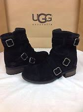ugg womens finney boots black ugg australia buckle suede boots for ebay