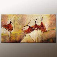 living room wall art abstract painting ballet dancer painting