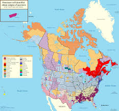 Canada Population Map by Largest Ancestries In The United States And Canada By 19north95 On