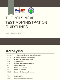 reading comprehension test ncae 2015 ncae guidelines test assessment technology