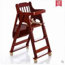 Portable Baby High Chair Highchair Wood Children U0027s Fashion Simple Folding Chair
