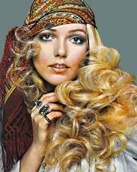 hairstyles for hippies of the 1960s wild 1960s curls switch out the bandanna for a fabulous head band
