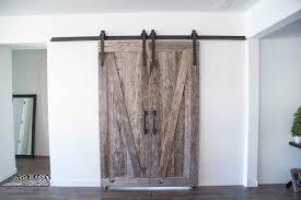 Distressed Barn Door by Rough Grey Smooth Brown Bi Part Tobacco Barn Sliding Barn Doors