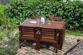 Patio Furniture Sets We Like For Under  The Sweethome - Wood patio furniture