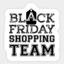 black friday sale after thanksgiving day shopping stickers