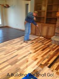 How To Lay Laminate Hardwood Flooring A Building We Shall Go The Art Of Pallet Wood Flooring