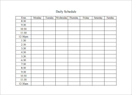 template for a daily schedule sogol co