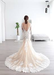 wedding dress malaysia custom made sleeves mermaid sheer wedding dress dentelle bridal