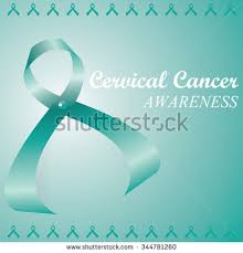 teal ribbons teal ribbons cervical cancer awareness caign stock vector