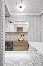 Bathroom Tiles Designs Tolomeo Micro Parete Lamp From Artemide And Brass Washbasin From