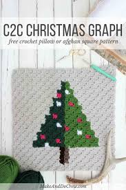corner christmas tree corner to corner crochet christmas tree free pattern