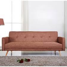 canapé tissus 2 places canapé clic clac tissu 2 places pieds bois design lili marron