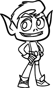 beast boy coloring pages dessincoloriage