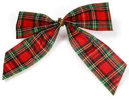 plaid ribbon set of 36 and green tartan plaid pretied bows ribbon and