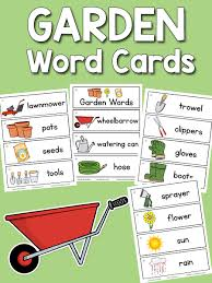 words cards garden word cards prekinders