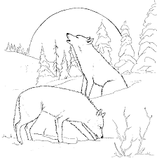 Free Printable Coloring Pictures Of Wolves Wolf Pack Coloring Pages