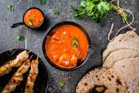 cuisine indienne naan cuisine indienne plat traditionnel poulet épicé tikka masala