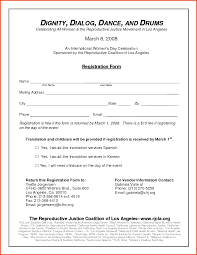 registration form template product proposal template free