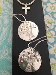 customizable necklaces customizable family tree silver pendant necklace