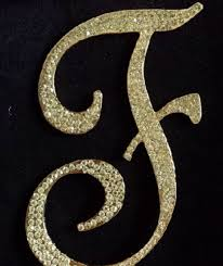 letter cake topper gold letter f monogram cake toppers monogram cake topper