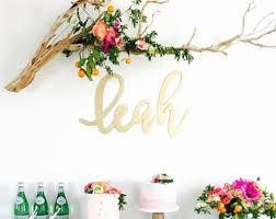 wedding backdrop name design large name sign calligraphy laser cut nursery sign abigail style