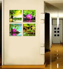 amazon com canvas art zen canvas prints spa wall decor 4 panel amazon com canvas art zen canvas prints spa wall decor 4 panel canvas artwork modern pictures framed ready to hang spa massage treatment red orchid