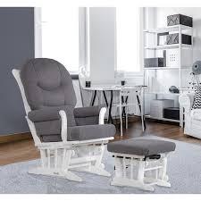 dutailier dark grey multiposition reclining sleigh glider and