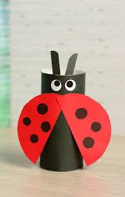 kids craft paper tube ladybug blitsy