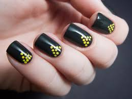 divine simple nail art designs simple and easy black nail art