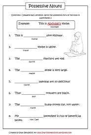 possessive nouns worksheet iman u0027s home