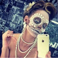 sugar skull makeup dia de los muertos pinterest makeup