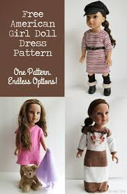 the craft patch american doll basic knit dress pattern and