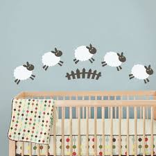 Wall Decals For Baby Nursery C209 Sheep Wall Decal Baby Room Wall Sticker Nursery Play Room