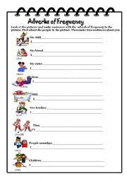 adverbs of frequency worksheet by martinasvabova