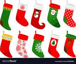 christmas socks hanging christmas socks royalty free vector image