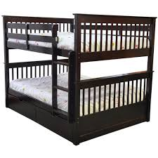 Bunk Bed Espresso Bunk Bed Mission Espresso Wood Trundle Bed Drawers
