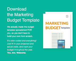 how to plan your marketing budget w downloadable template