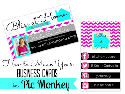 how to make your own business cards in picmonkey bliss at home