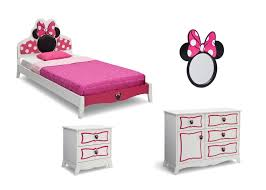 Minnie Mouse Table And Chairs Minnie Mouse Wooden Twin Bedroom Collection Delta Children U0027s