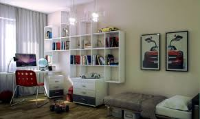 teens room modern automotive themed white boys teenager room