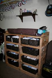 Shelves From Pallets by Diy Pallet Changing Table Baby Furniture Pallets And Rounding