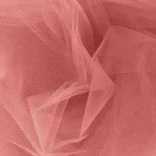 tulle fabric 108 wide tulle coral discount designer fabric fabric